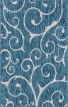 """Carpet """"Outdoor Beauties """" Rectangular Teal"""