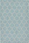 """Carpet """"Outdoor Crosses"""" Rectangular Aquamarine"""