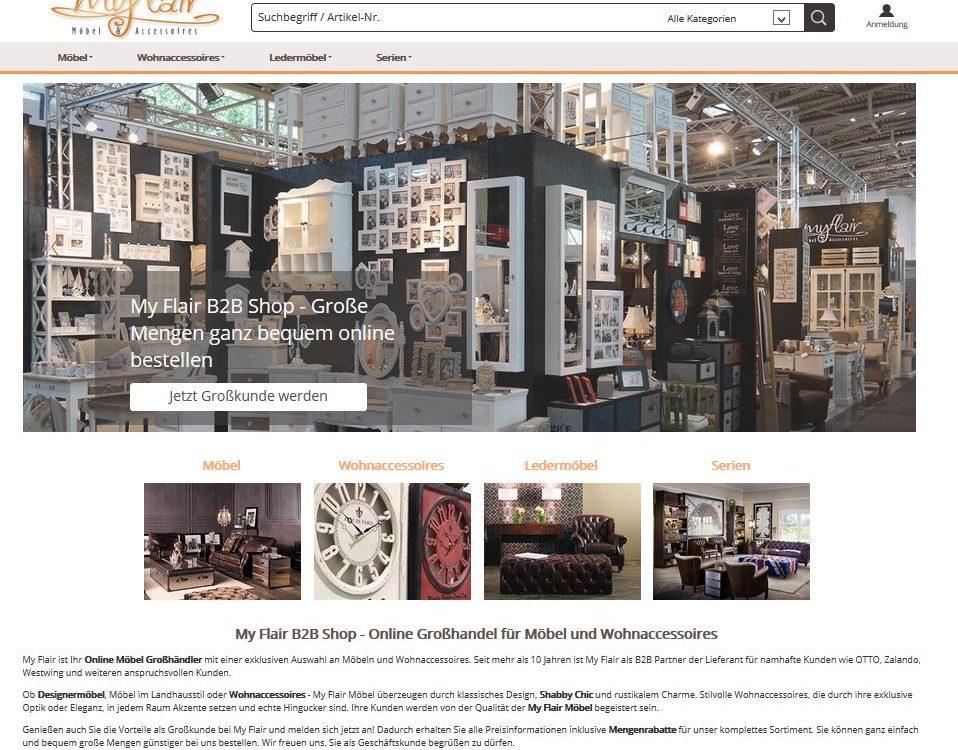 My Flair GmbH – Handel für Möbel und Wohnaccessoires